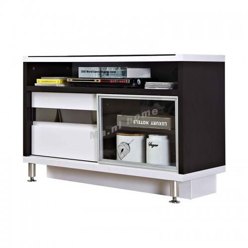 BIGIO 1200 TV cabinet, walnut + white, 815557