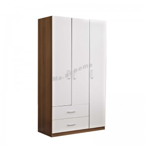 NATURA 1200 hinge wardrobe with drawers , light walnut color+white, 815635
