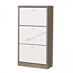 "STUDI 24"" shoes cabinet, gray wood grain + white, 816122"