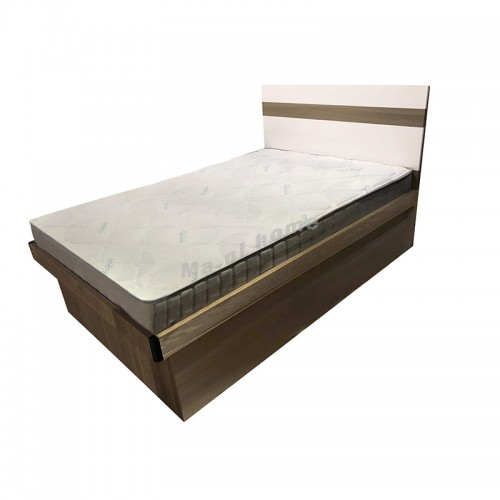 ANGO bed , gray wood grain, white  color,  816399