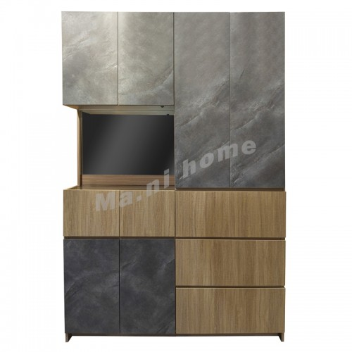 MULTI 1500 cabinet, light oak color+cement color, 813815