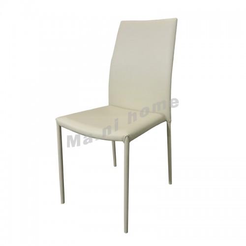 LELIA synthetic leatherdining chair, beige , 813858