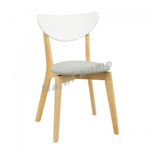 NAIDA dining chair, natural color, grey cushion, 810277