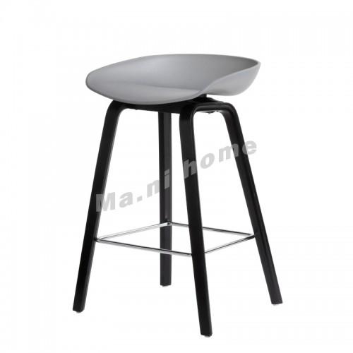 LINEA bar stool, grey+black legs, 813425