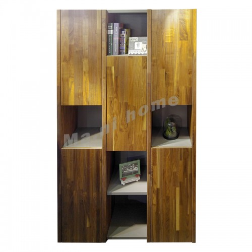 BRICK 1100 bookcase, walnut veneer+grey, 810962