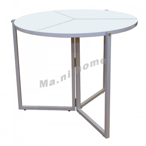 FLEXI 900 foldable dining table, gloss white, 810585