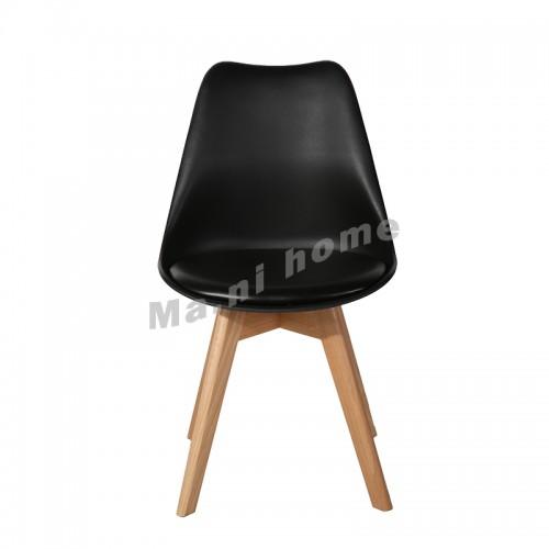 LINEA dining chair, black back, black seat, 811269