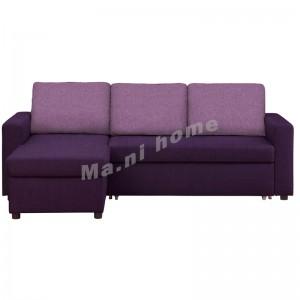 FALCO 2300 曲尺三座位布藝梳化床, 紫色 , 813841