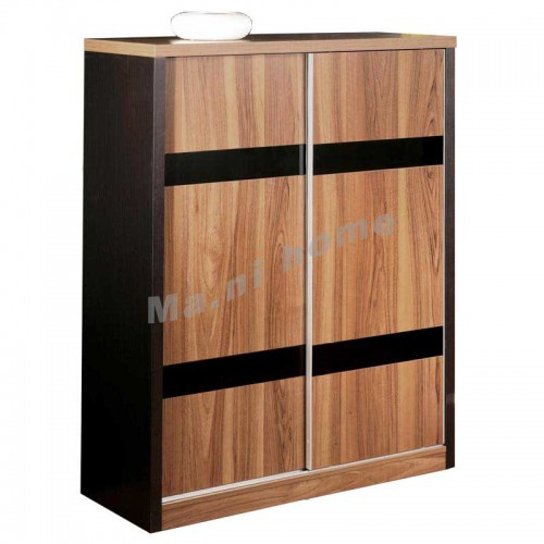 CUBO 1000 shoes cabinet w/sliding door, oak veneer,804955