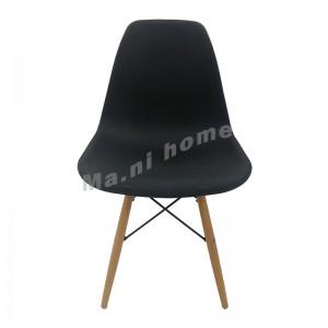 EAMES 型格餐椅, 黑色, 櫸木色腳, 811163