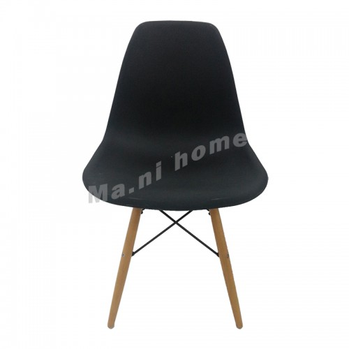 EAMES dining chair, black, beech color, 811163