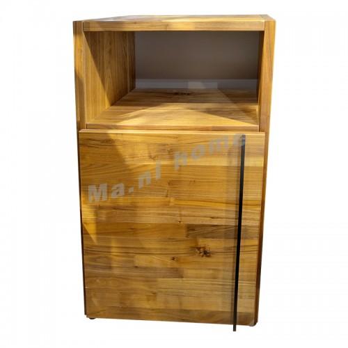 BRICK 600 cabinet, walnut veneer, 810960