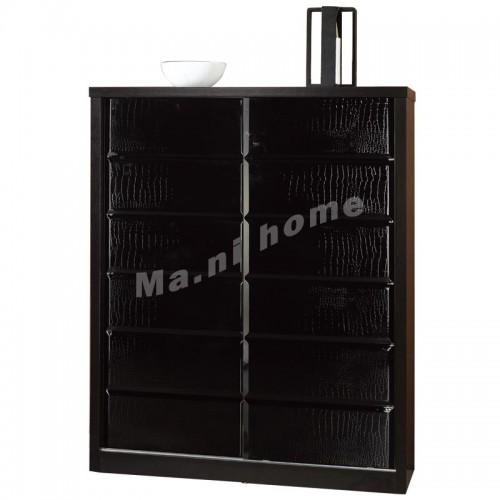 CUBO 1000 shoes cabinet, oak veneer+black, 804896