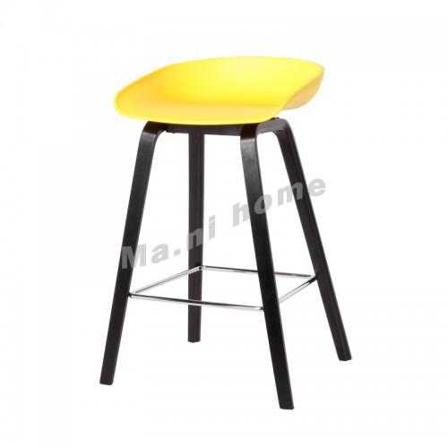 LINEA bar stool, yellow+black legs, 813431