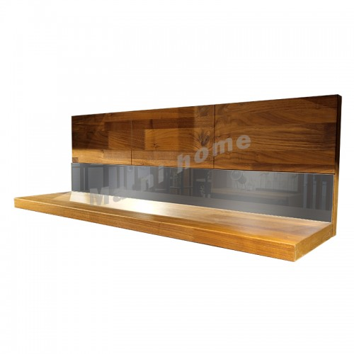 BRICK 1100 掛牆層架, 胡桃木飾面+鏡面, 810959