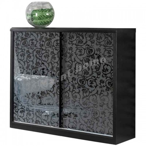 CUBO 1200 shoes cabinet w/sliding door, oak veneer+grey,804910