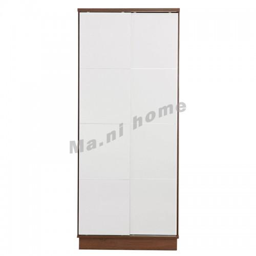 GRID 900 sliding door wardrobe, walnut color+gloss white, 814572