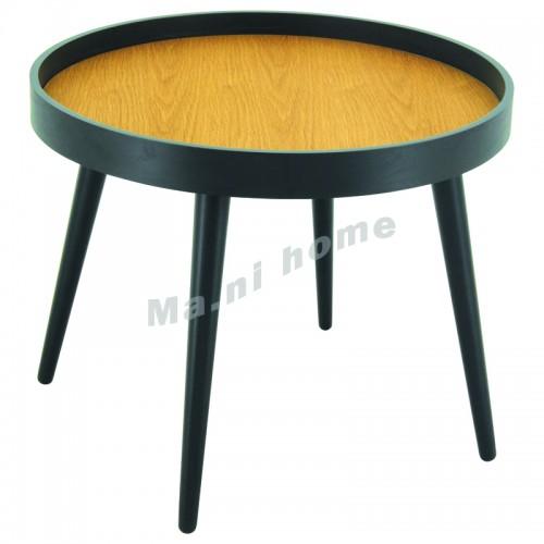 MILLARD 550 coffee table, oak color, black , 813812