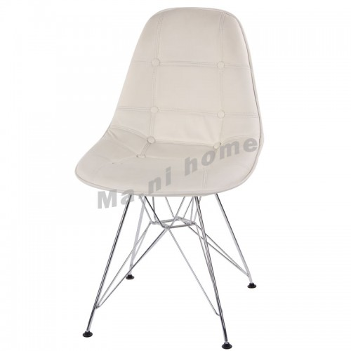 LINEA dining chair, synthetic leather, white,800361