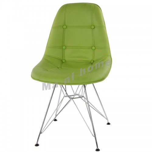 LINEA dining chair, synthetic leather, green,800365