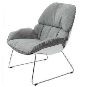 LIA 700布藝休閒椅, 白色+鐵腳, 814585