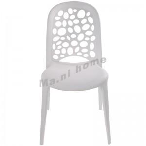 LINEA 型格餐椅, 塑料, 白色,800528