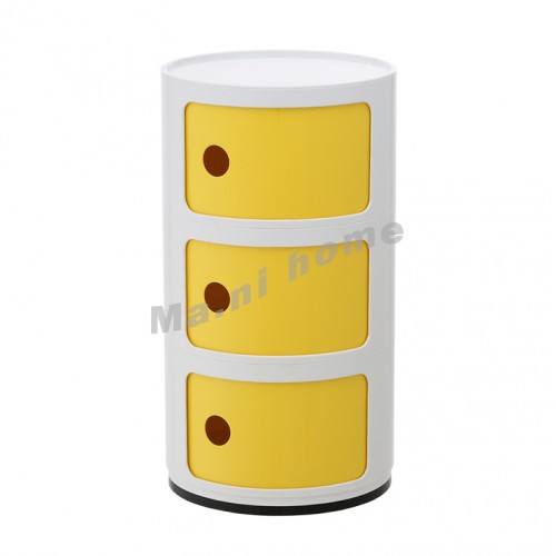 LINEA end table, white+yellow, 810403