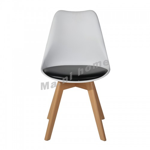 LINEA dining chair, white back, black seat, 811267