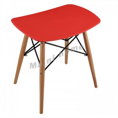 Glider stool, red, 100016