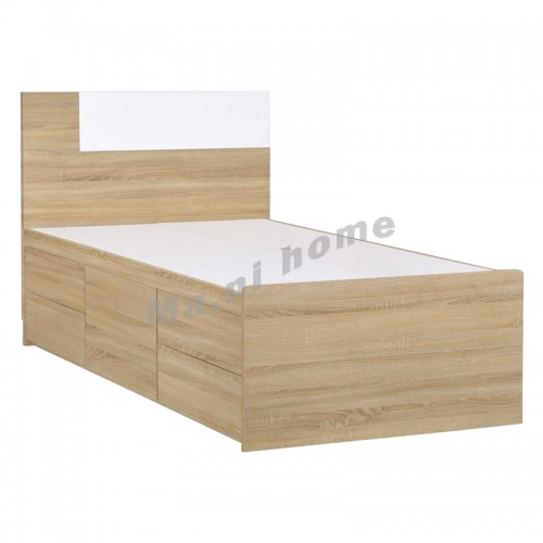 CADE 1200 bed with drawers, oak color, 810452