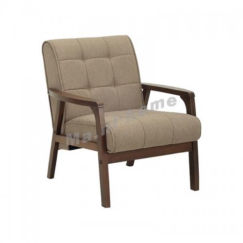 TUCSON 1 seat sofa, dark walnut color+light brown, 813213