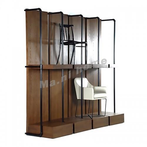 TAP 4000 chairs rack, veneer+metail, walnut color, 810124