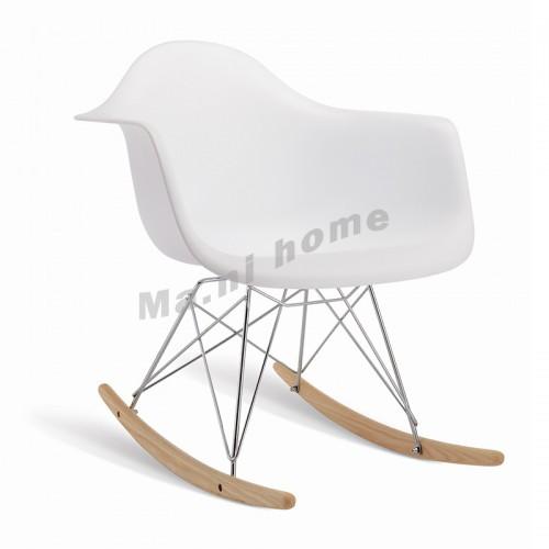 PROFILO rocking chair, white, beech color, 811161