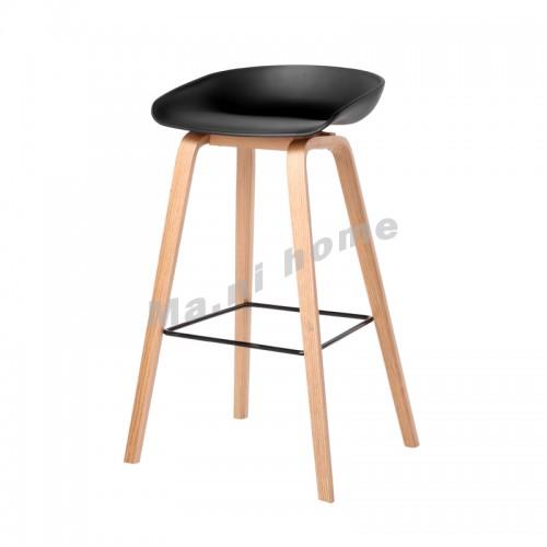 LINEA bar stool, black+natural color legs, 813435