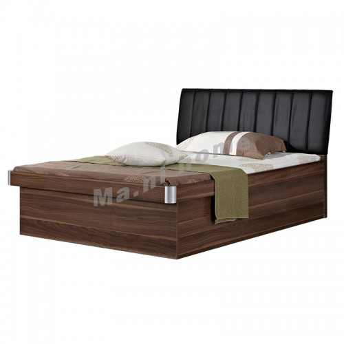 PEDDER 1370 bed with hydraulic lift, walnut color+black, 813808