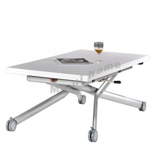 FLEXI 900 extendable table w/adj height, gloss white, 810265