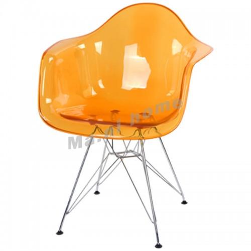 LINEA dining chair, transparent orange,800399