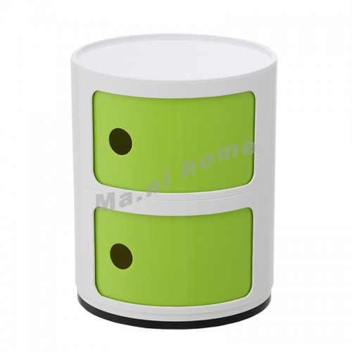 LINEA end table, white+green, 810412