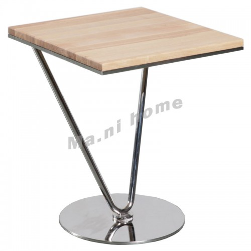 RAE 450 end table, white ash+apple wood veneer+metal,803799