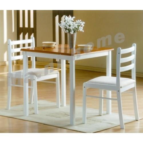 GARDEN dining set, walnut color+white, 809651 SET