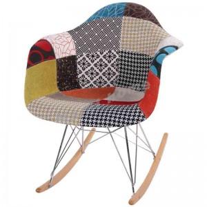 LINEA 型格搖椅, 布藝, 拼花, 809921