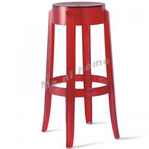 LINEA bar stool, transparent red, 800582