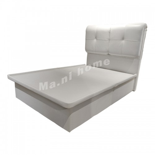 CLOUDD leather bed with hydraulic lift