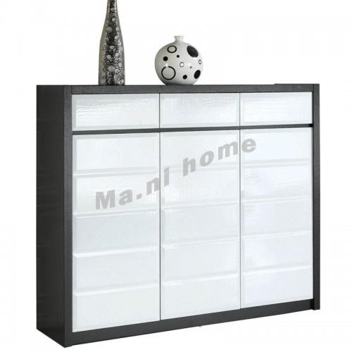 CUBO 1200 shoes cabinet, oak veneer+gloss white, 804903