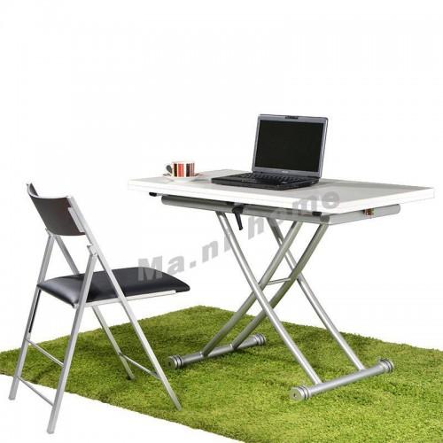 FLESS 1000 extendable table w/adj height, gloss white, 800046