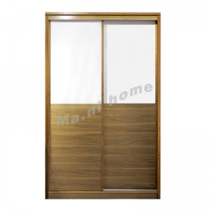 ONDA 1200 sliding door wardrobe, light walnut color, 813103