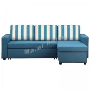 FALCO 2300 曲尺三座位布藝梳化床, 藍色 , 813842