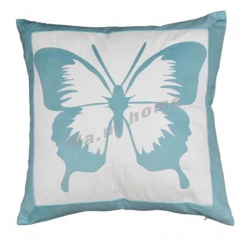 FIORI 450 布藝植絨抱枕, 蝴蝶, 藍色,806398