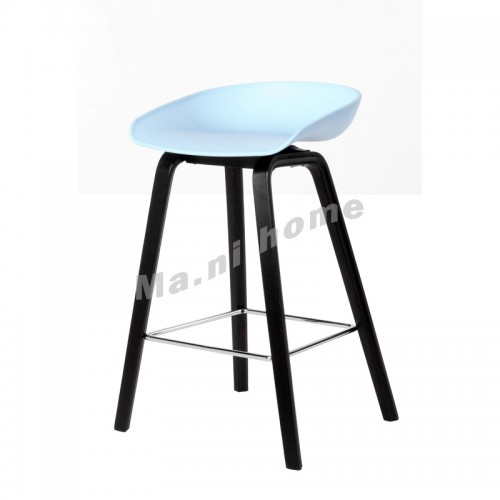 LINEA bar stool, blue+black legs, 813430