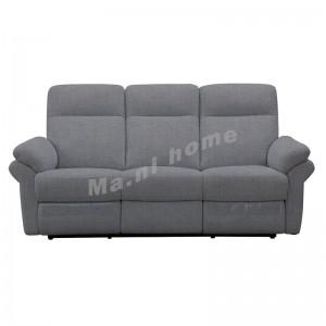 REGINA 2000 三座位布藝彈鉸梳化, 灰色, 813835